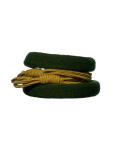 haar elastiek groen geel