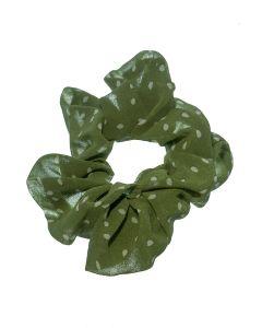 haarwokkel groen met witte stip