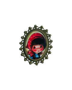 ring brons meisje rood