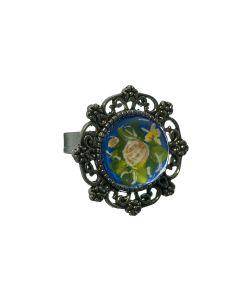Ring rond kobaltblauw