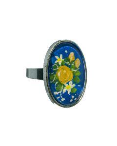 Ring kobaltblauw