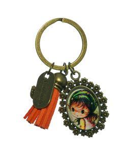sleutelhanger meisje groen