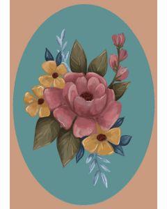 Kaart bloemen pastel
