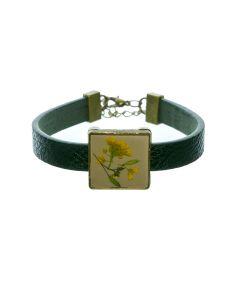 armband droogbloem geel
